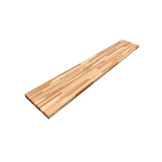 "Forever Joint Hickory 1-1/2"" X 12"" x 96"" Butcher Block Shelf"