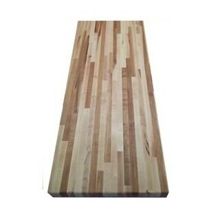 "Forever Joint Hard Maple 1-1/4"" X 4"" x 50"" Butcher Block Wood Backsplash"