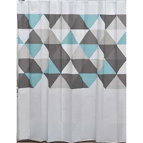 Nordik Collection Printed Peva Liner Shower Curtain