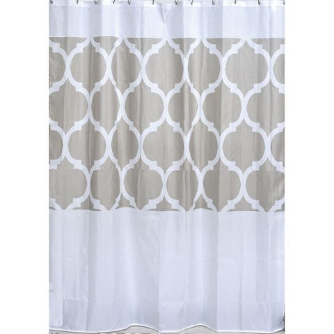 Evideco Escal Printed Polyester Fabric Shower Curtain 71Wx79H