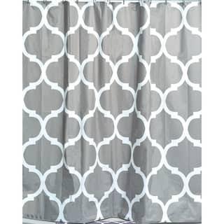 Evideco Printed Peva Liner Shower Curtain Design Escal Plastic 71x71 Inch
