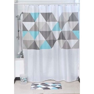 Evideco Nordik Printed Polyester Fabric Shower Curtain 71Wx79H