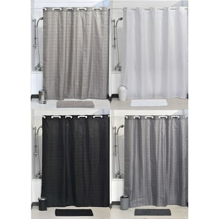 Evideco Hookless Shower Curtain Polyester Cubic Color
