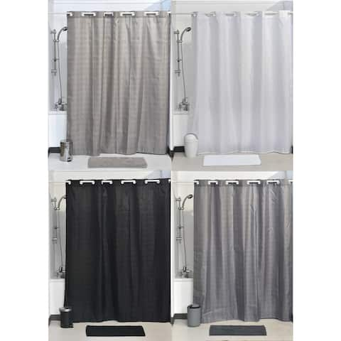 Evideco Hookless Shower Curtain Polyester Cubic Color Matching Hooks