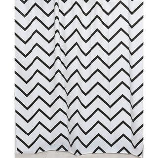 Evideco Zigzag Collection Printed Peva Liner Shower Curtain Plastic