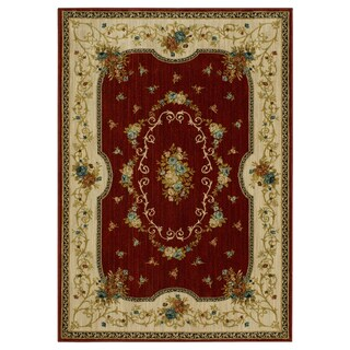 Mohawk Home Terrace Kallista Area Rug (8'x10') - 8' x 10' (Option: Burgundy)