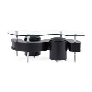 Global Furniture Black Coffee Table With Cushions
