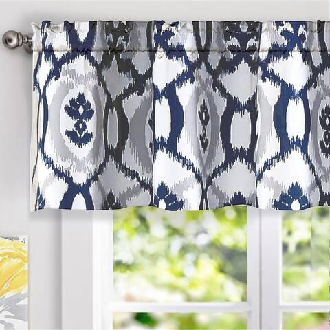 DriftAway Evelyn Ikat fleur/Floral Pattern Window Curtain Valance