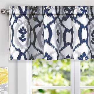 DriftAway Evelyn Ikat fleur/Floral Pattern Window Curtain Valance