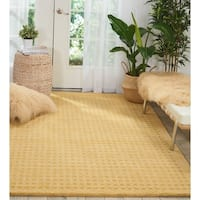 Nourison Perris Hand Woven Gold Area Rug - 8' x 10'6