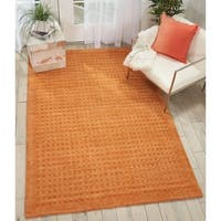 "Nourison Perris Hand Woven Sunset Orange Area Rug - 6'6"" x 9'6"""