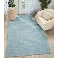 Nourison Perris Hand Woven Sky Blue Area Rug - 6'6 x 9'6