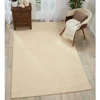 Nourison Perris Hand Woven Ivory Area Rug - 6'6 x 9'6