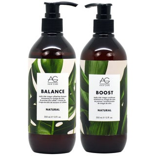 AG Hair Natural Balance 12-ounce Shampoo & Boost Conditioner Duo