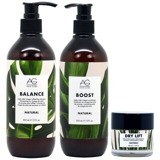 AG Hair Natural Shampoo + Conditioner + Dry Lift Hair Care Set