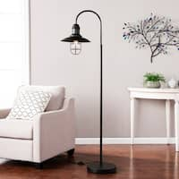 Harper Blvd Pinslo Matte Black Caged Bell Floor Lamp
