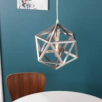 Harper Blvd Austwell Brushed Nickel Geometric Cage Pendant Lamp