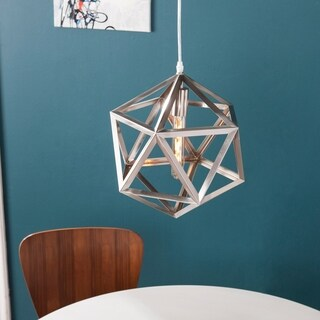 Harper Blvd Austwell Brushed Nickel Geometric Cage Pendant Lamp - Bronze/Gold