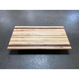 "Forever Joint Maple/Walnut Mix 1.5"" x 36"" x 48"" Wood Desk Top"