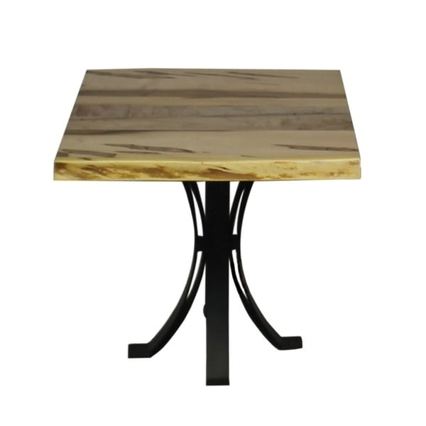 Wormy Maple End Table With Eclipse Base