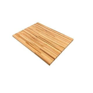 """Forever Joint Hickory 1.5"""" x 36"""" x 48"""" Butcher Block Desk Top"""