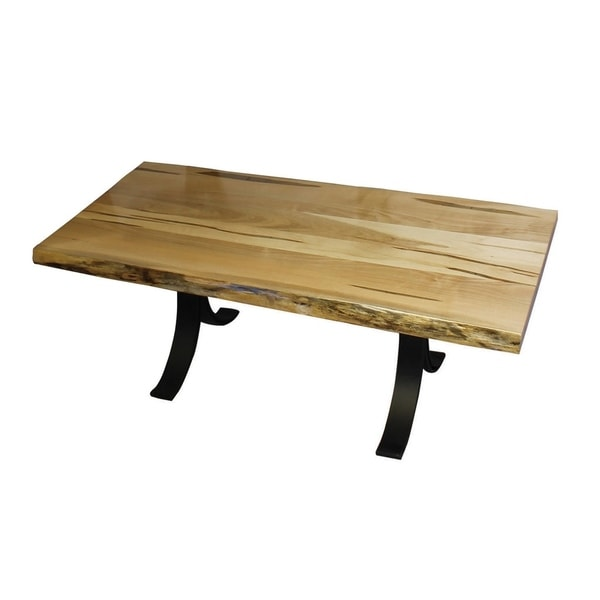 Wormy Maple Coffee Table With Eclipse Base