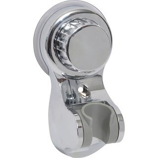 Evideco Hand Held Shower Head Bracket Suction or to be Fixed chrome