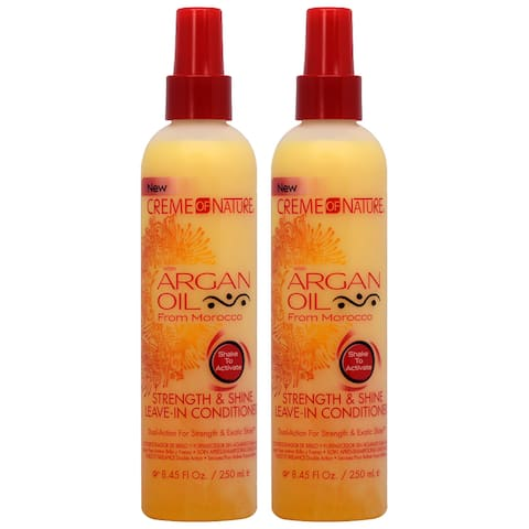 Crème of Nature Argan Oil 8.45-ounce Strength & Shine Leave-in Conditioner (Pack of 2)