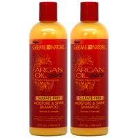 Crème of Nature Argan Oil 12-ounce Moisture & Shine Shampoo (Pack of 2)
