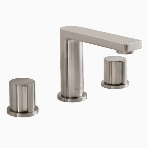 Maykke Friedrich Three Piece 8 Inch Widespread Faucet, Brushed Nickel