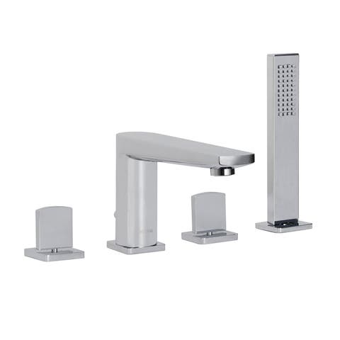 Maykke Adalbert Deck-Mount Bathtub Faucet with Hand Shower