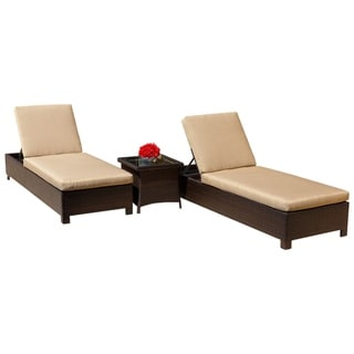 Abbyson Monty Outdoor Chaise Lounge