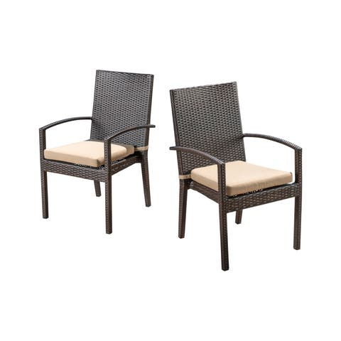 Abbyson Monty Outdoor Dining Armchair (2-pack)