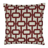 Sherry Kline Newport 20-inch Decorative Pillow - Red