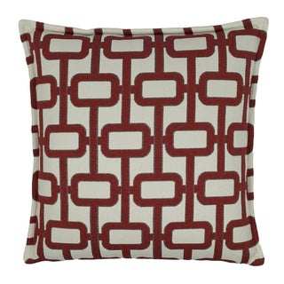 Sherry Kline Newport 20-inch Decorative Pillow - Red
