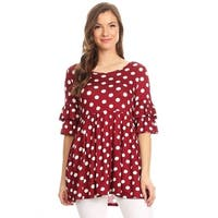 Women's Polka Dot Babydoll Tunic