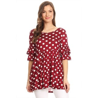 Women's Polka Dot Babydoll Tunic (More options available)