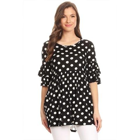 Women's Polka Dot Babydoll Tunic