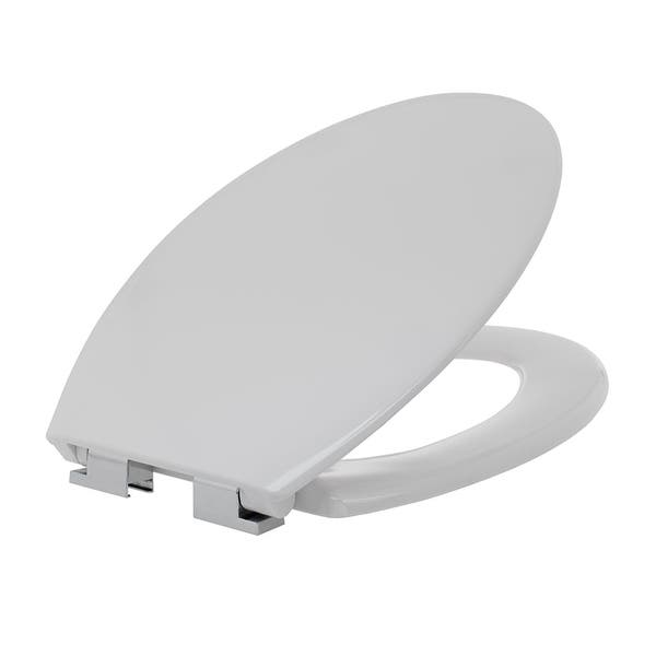 Outstanding Shop Maykke Clova Elongated Toilet Seat In White With Soft Alphanode Cool Chair Designs And Ideas Alphanodeonline
