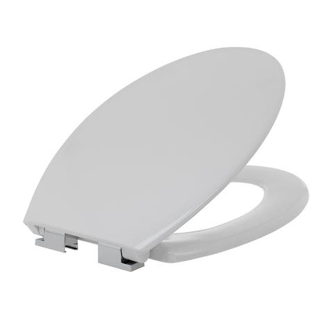 Maykke Clova Elongated Toilet Seat in White with Soft Close Hinges