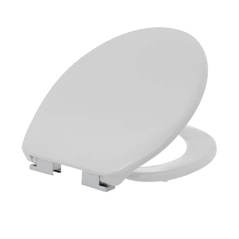 Maykke Alford Elongated Toilet Seat in White with Soft Close Hinges