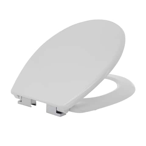 Maykke Laggan Round Toilet Seat in White with Soft Close Hinges