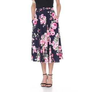 Floral Flared Midi Skirt with pockets (More options available)