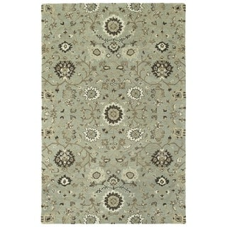 """Hand-Tufted Tannica Mint Wool Rug - 5' x 7'9"""""""
