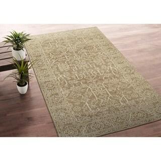 Bombay Home Zion Khaki Wool Handmade Area Rug - 5'6 x 8'6