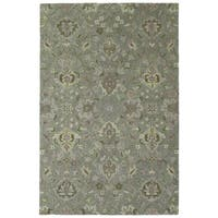 Hand-Tufted Tannica Graphite Wool Rug - 4' x 6'