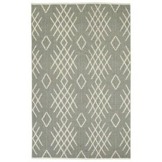 """Hand-Loomed Akta Grey Wool Rug - 3'6"""" x 5'6"""""""