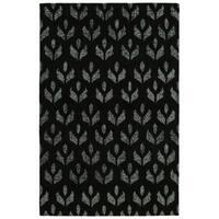 Hand-Tufted Hale Black Wool Rug - 4' x 6'