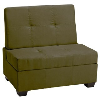 Copper Grove Gowlland Panel Stitched Tufted Storage Chair Bench (Suede Olive Green - 48-inch wide - Suede)