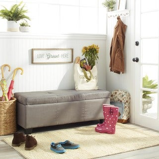 Clay Alder Home Malad Upholstered Storage Ottoman Bench